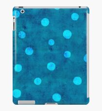 Unique Turquoise Distressed Vintage Polka Dots Pattern iPad Case/Skin