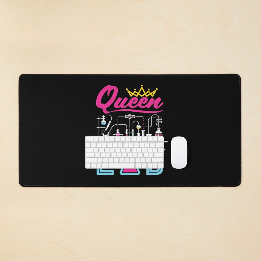 Queen of the Lab Laboratory Technician Scientist Women Girls Mouse Pad