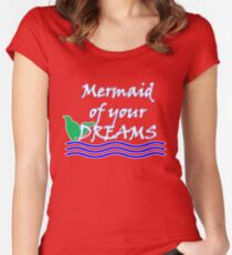 Mermaid Of Your Dreams (White) Women's Fitted Scoop T-Shirt