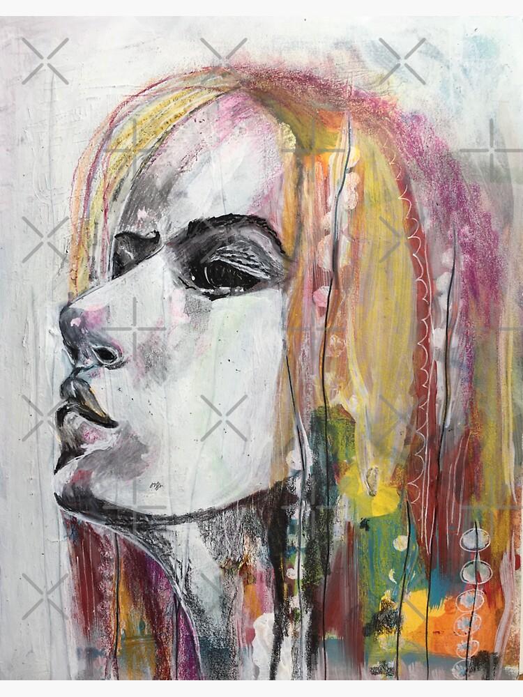 Mixed Media Girl by emeraldlane