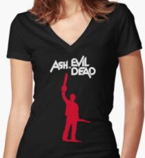 Old Man Ash II Women's Fitted V-Neck T-Shirt