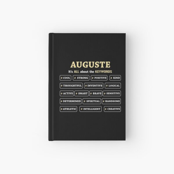 Auguste It's All About The Keywords Hardcover Journal