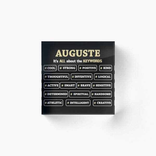 Auguste It's All About The Keywords Acrylic Block