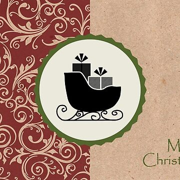 Elegant Rustic Merry Christmas by RumourHasIt