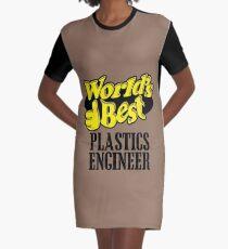 Worlds best Plastics engineer Graphic T-Shirt Dress