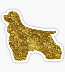 cocker spaniel | Gold Sticker