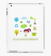 Recycle, nature and ecology icons isolated on white background iPad Case/Skin