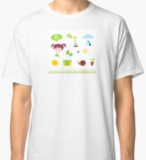 Agriculture, garden and nature icons isolated on white background Classic T-Shirt