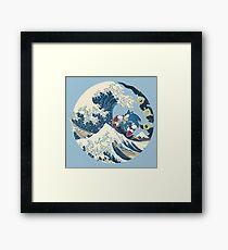 Sonic the Hedgehog - Hokusai Framed Print