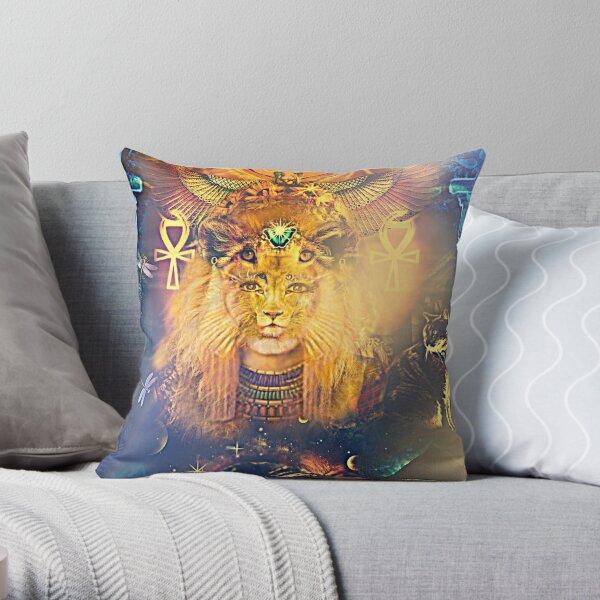 Goddess Sekhmet  Throw Pillow