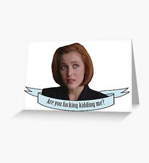 Sassy Scully sticker 2 Greeting Card
