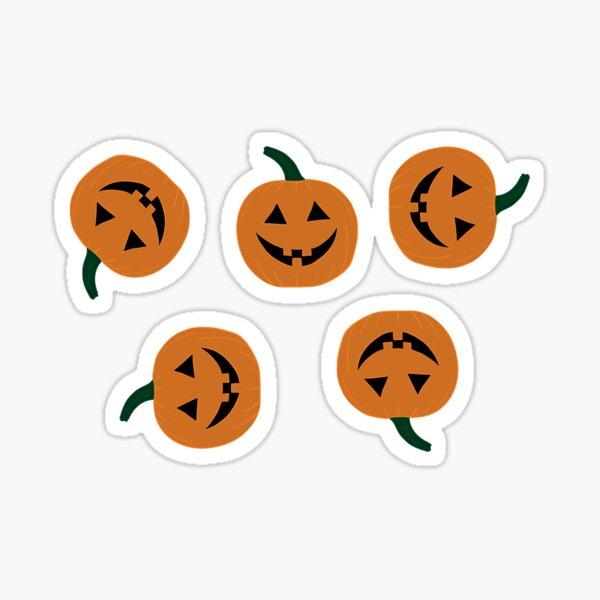 Spooky Season Handrawn Pumpkin Pattern Sticker Pack Glossy Sticker