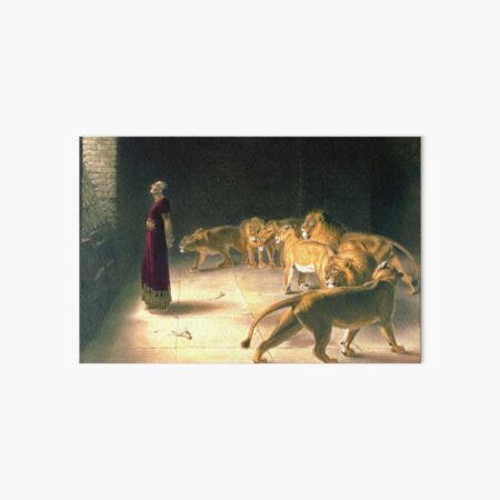 Daniel Answer To The King In The Lions Den By Briton Riviere Art Board Print
