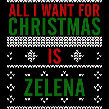 All I want for Christmas is Zelena by AllieConfyArt