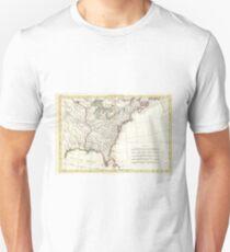 Thirteen Colonies Vintage Map (1776) Unisex T-Shirt