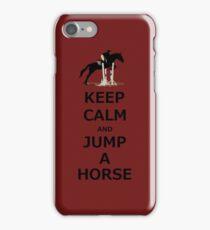 Keep Calm & Jump A Horse  iPhone Case/Skin