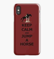 Keep Calm & Jump A Horse  iPhone Case