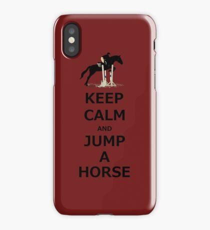 Keep Calm & Jump A Horse  iPhone Case