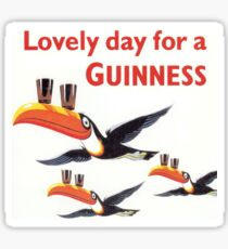 Vintage Guinness Beer Ad Toucans Sticker