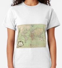 Vintage Map of The World (1778) Classic T-Shirt