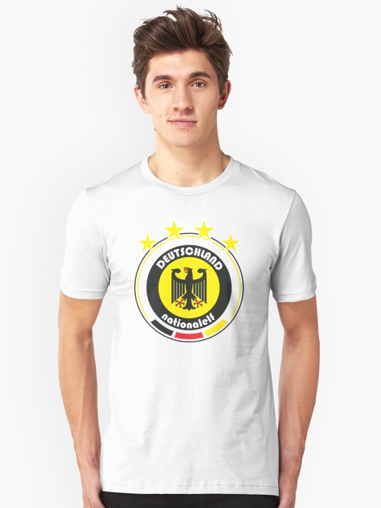 World Cup Football 3/8 - Team Deutschland Unisex T-Shirt Front