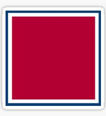 Red with White and Blue Trim Sticker