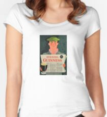 Vintage Guinness Beer Ad #3 Women's Fitted Scoop T-Shirt