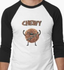 Chewy Chocolate Cookie Wookiee Men's Baseball ¾ T-Shirt