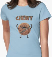 Chewy Chocolate Cookie Wookiee Womens Fitted T-Shirt