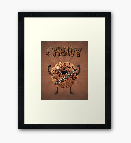 Chewy Chocolate Cookie Wookiee Framed Print
