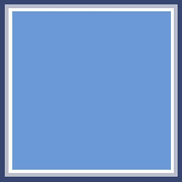 Baby Blue with White Silver and Navy by PharrisArt