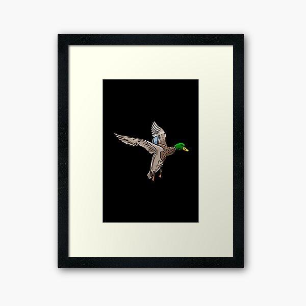 simple drawing Mallard art Framed Art Print