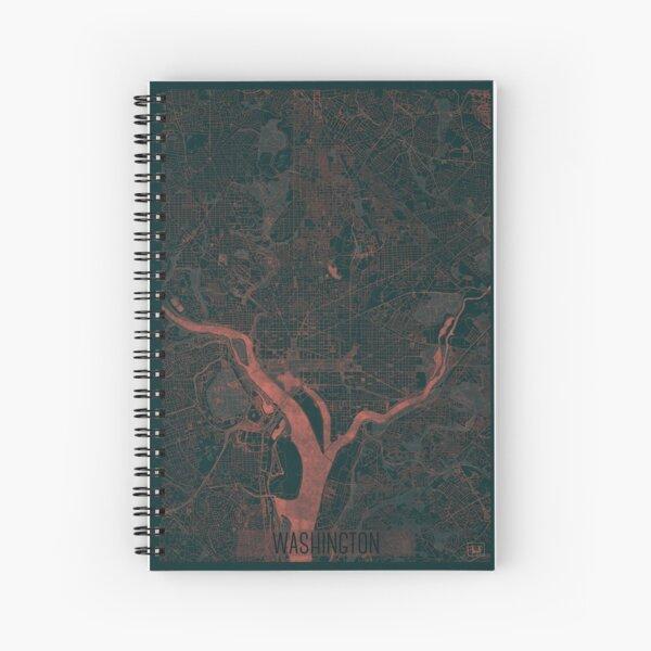 Washington Map Red Spiral Notebook