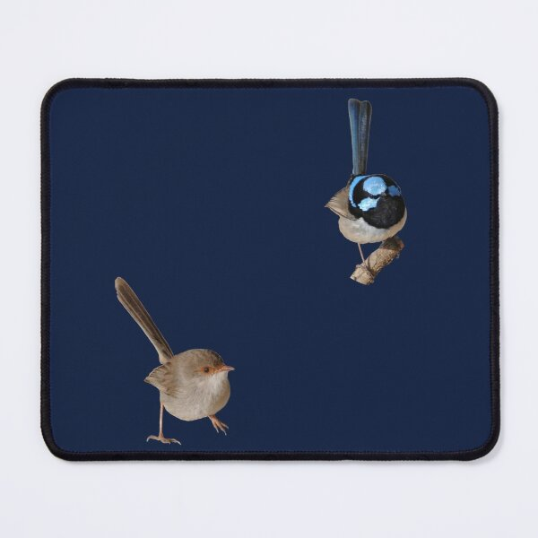 Superb Fairy-wrens male and female Mouse Pad
