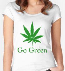 Go Green - Legalize Marijuana Women's Fitted Scoop T-Shirt