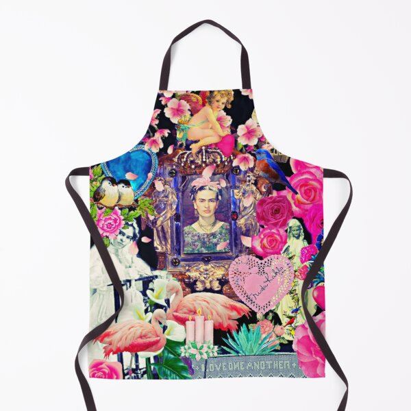 Frida Kahlo Love One Another Collage Apron