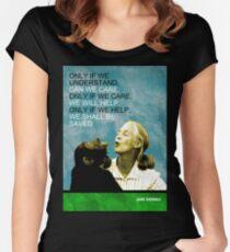 Camiseta entallada de cuello ancho Jane Goodall Cita
