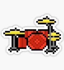 Yet Another Drumset - Pixels Sticker