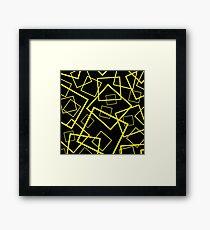Framed In Yellow Framed Print