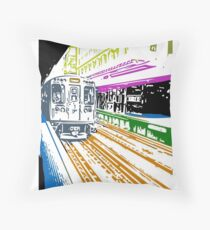 CTA Brownline to Kimball Throw Pillow