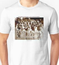 TOUR DE FRANCE; Vintage Cycle Racing Advertising Photo Unisex T-Shirt