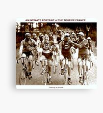 TOUR DE FRANCE; Vintage Cycle Racing Advertising Photo Canvas Print