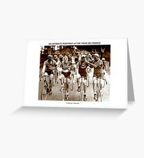 TOUR DE FRANCE; Vintage Cycle Racing Advertising Photo Greeting Card