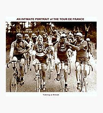 TOUR DE FRANCE; Vintage Cycle Racing Advertising Photo Photographic Print
