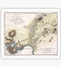 Vintage Map of Athens (1784)  Sticker
