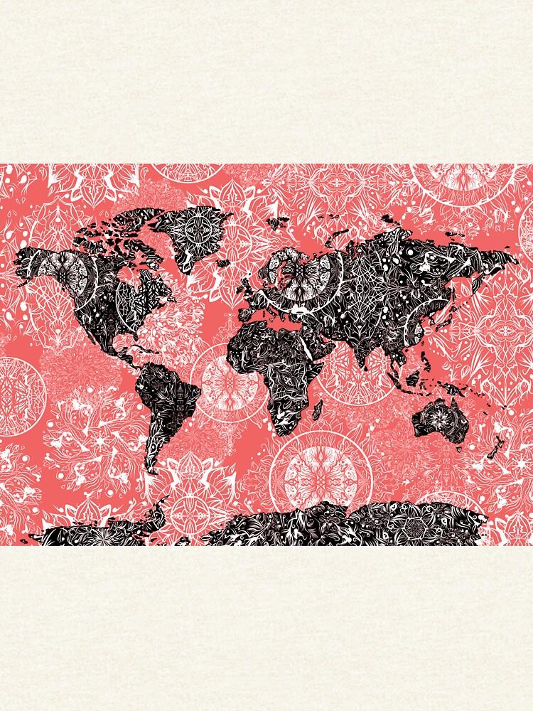 Weltkarte Mandala 2 von BekimART