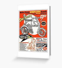 VW hotrod parts dream bike Greeting Card