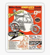VW hotrod parts dream bike Sticker