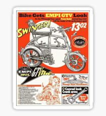 VW hotrod parts dream bike Sticker