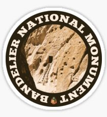 Bandelier National Monument circle Sticker